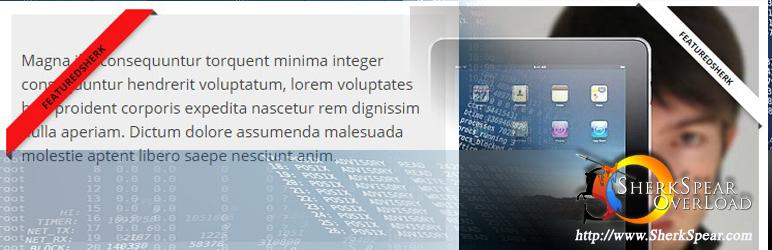 WordPress Add Ribbon Shortcode Plugin Banner Image