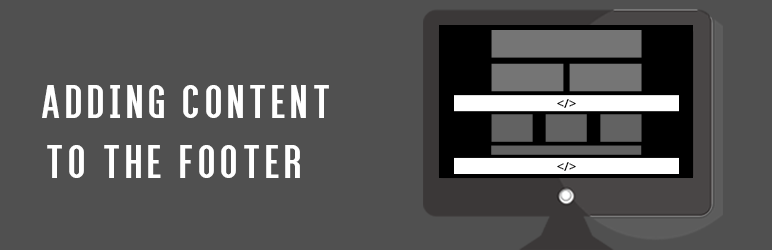 WordPress Adding Content to the Footer Plugin Banner Image