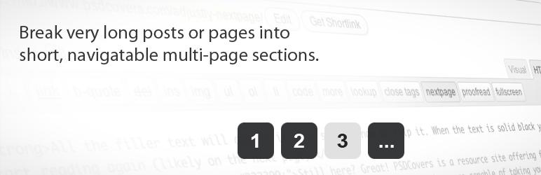 WordPress Adjustly Nextpage Plugin Banner Image