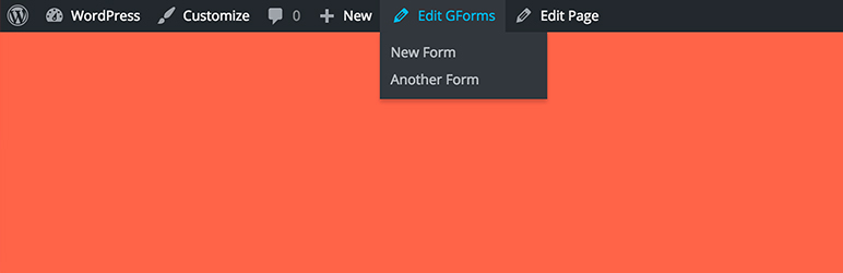 WordPress Admin Bar Edit Links for Gravity Forms Plugin Banner Image