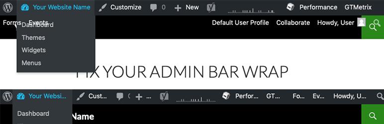 WordPress Admin Bar Wrap Fix Plugin Banner Image