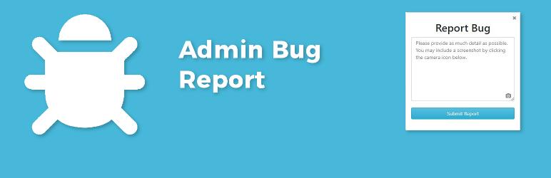 WordPress Admin Bug Report Plugin Banner Image
