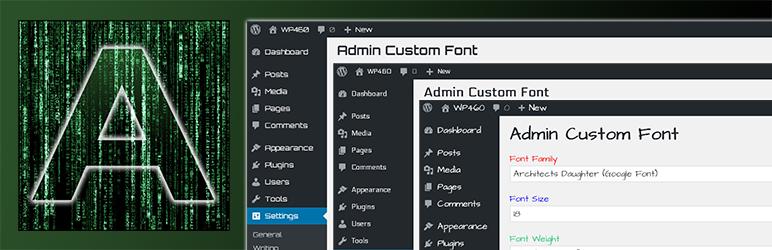 WordPress Admin Custom Font Plugin Banner Image