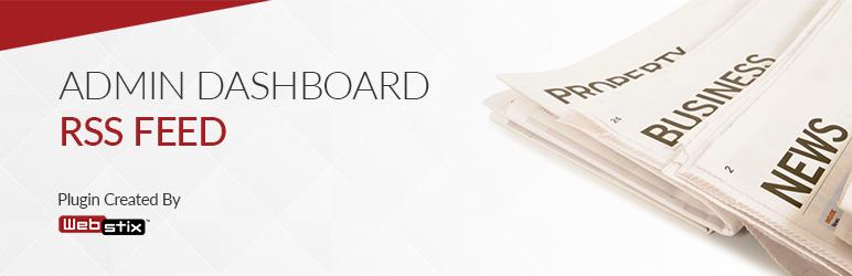 WordPress Admin Dashboard RSS Feed Plugin Banner Image