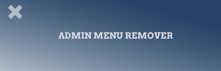WordPress Admin menu remover Plugin Banner Image