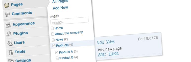 WordPress Admin Menu Tree Page View Plugin Banner Image