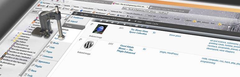 WordPress Admin Menus Fixed Plugin Banner Image