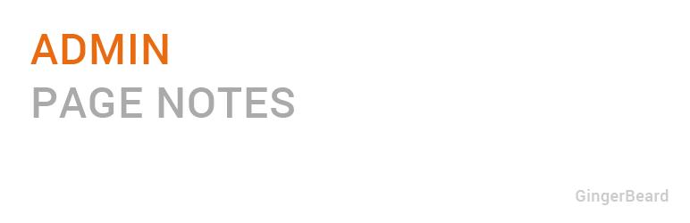 WordPress Admin Page Notes Plugin Banner Image