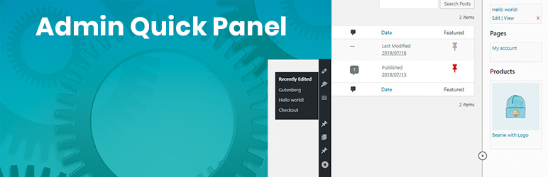 WordPress Admin Quick Panel Plugin Banner Image