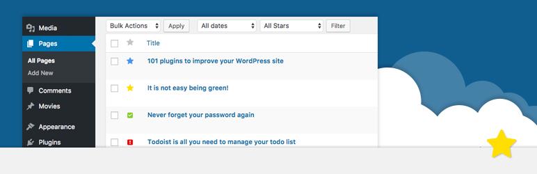 WordPress Admin Starred Posts Plugin Banner Image