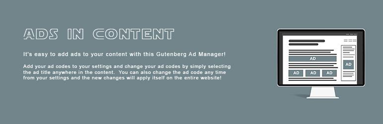 WordPress Ads In Content Plugin Banner Image