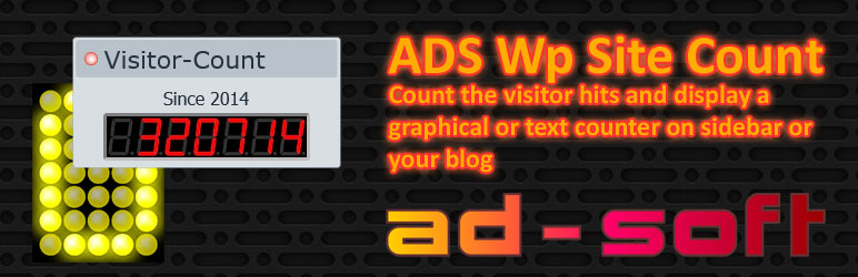 WordPress Plugin Name: ADS-WpSiteCount Plugin Banner Image