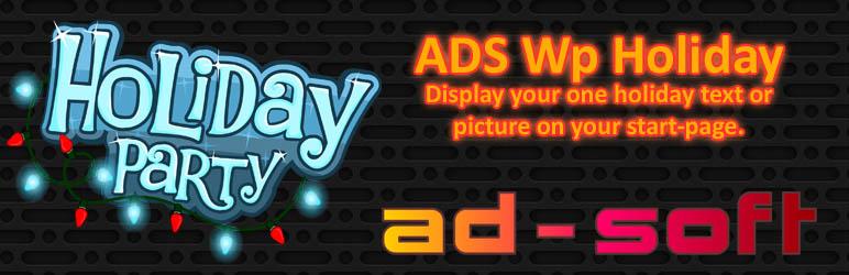 WordPress Plugin Name: ADS-WpHoliday Plugin Banner Image