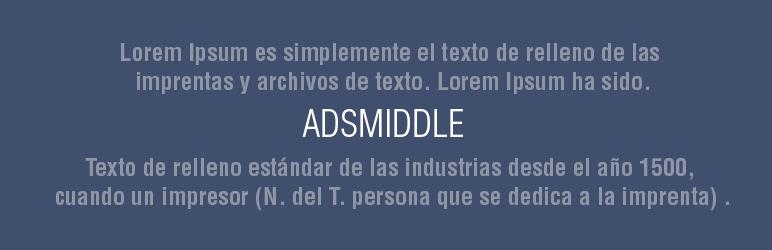 WordPress AdsMiddle Plugin Banner Image