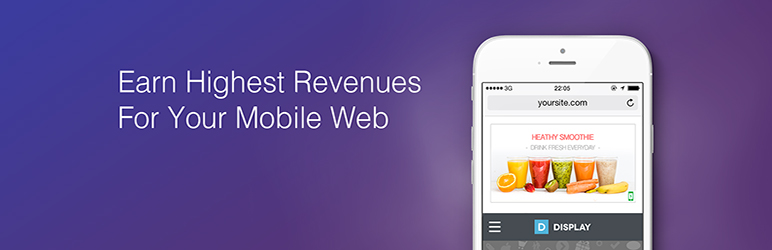 WordPress Mobile Ad for WordPress by AdsOptimal Plugin Banner Image