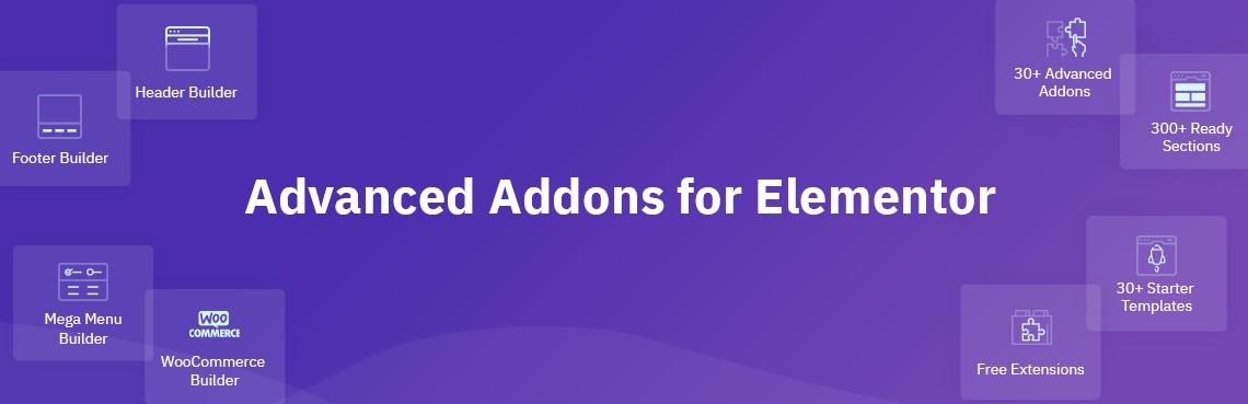 WordPress Advanced Addons for Elementor Plugin Banner Image