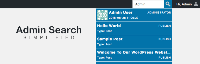 WordPress Advanced Admin Search Plugin Banner Image
