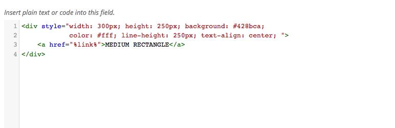 WordPress Advanced Ads – Code Highlighter Plugin Banner Image