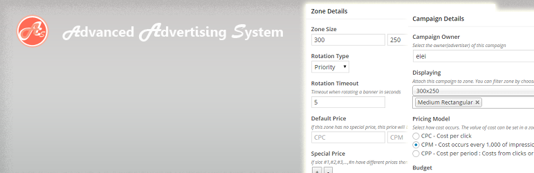 WordPress Advanced Advertising System Plugin Banner Image
