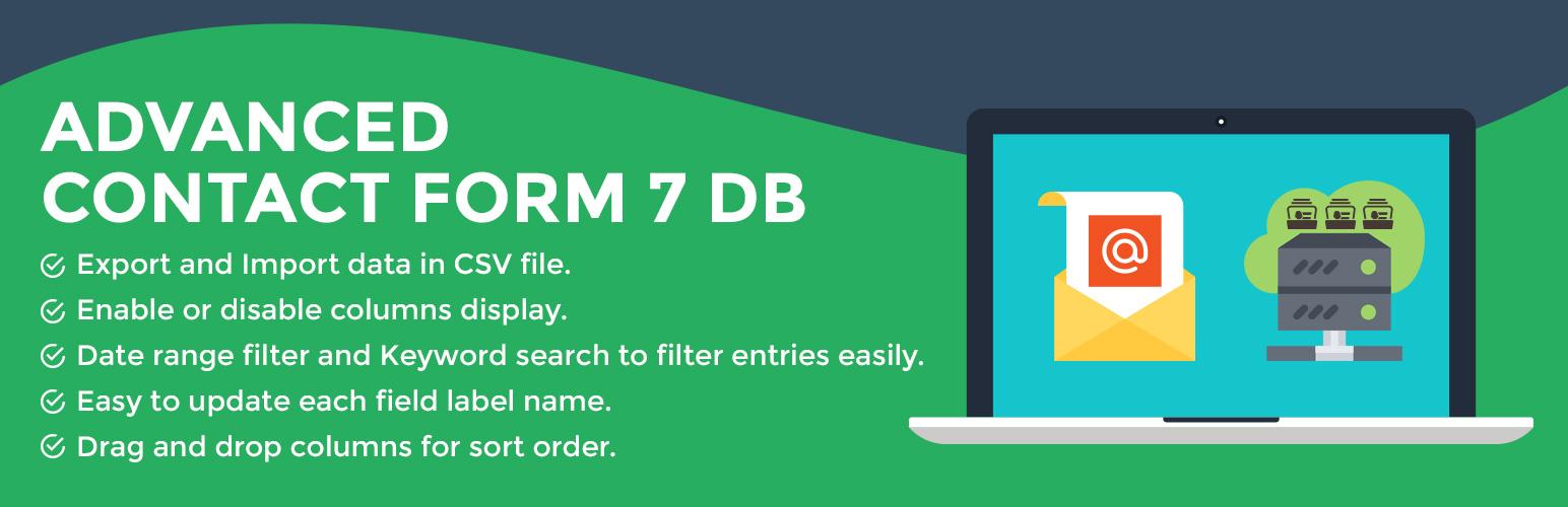 WordPress Advanced Contact form 7 DB Plugin Banner Image