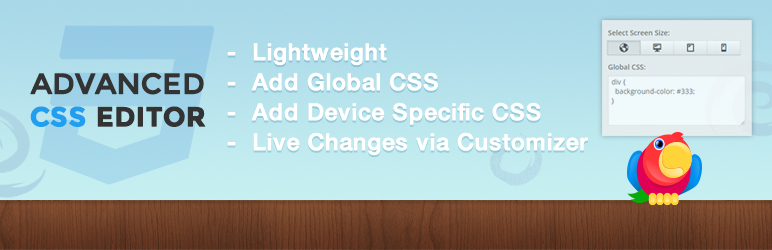WordPress Advanced CSS Editor Plugin Banner Image