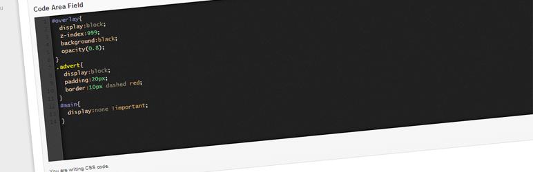 WordPress Advanced Custom Fields – Code Area Field Plugin Banner Image