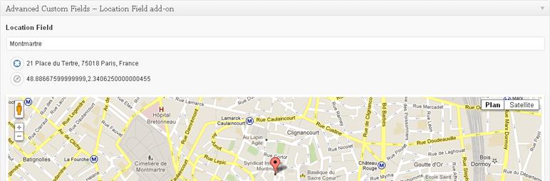 WordPress Advanced Custom Fields – Location Field add-on Plugin Banner Image