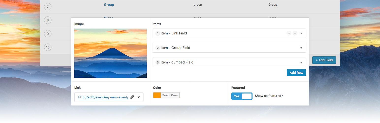 WordPress Plugin advanced-custom-fields