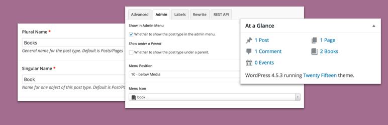 WordPress Advanced Custom Post Types Plugin Banner Image