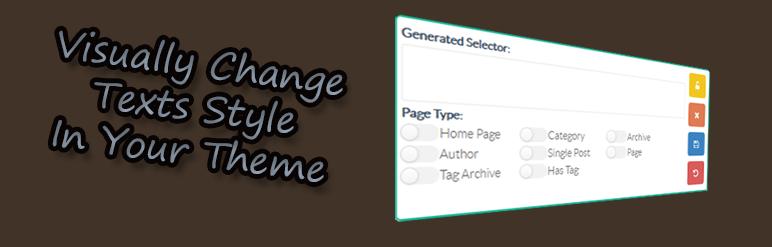 WordPress Advanced Font Changer Plugin Banner Image
