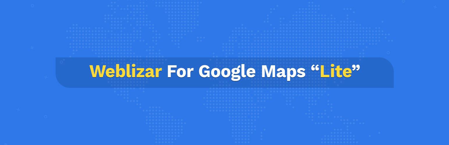 WordPress Weblizar for Google Maps Lite Plugin Banner Image