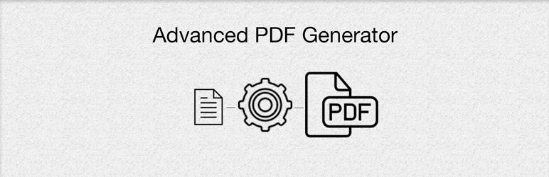 WordPress Advanced PDF Generator Plugin Banner Image