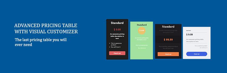 WordPress Advanced Pricing Table Plugin Banner Image
