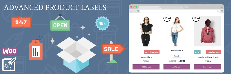 WordPress Advanced Product Labels for WooCommerce Plugin Banner Image