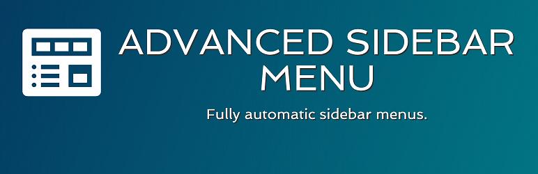 WordPress Advanced Sidebar Menu Plugin Banner Image