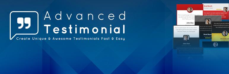 WordPress Advanced Testimonial For WP Plugin Banner Image
