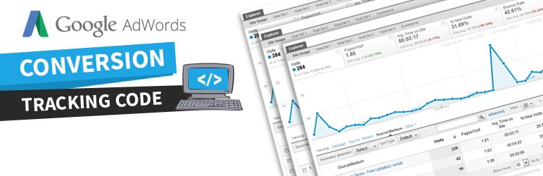 WordPress AdWords Conversion Tracking Code Plugin Banner Image