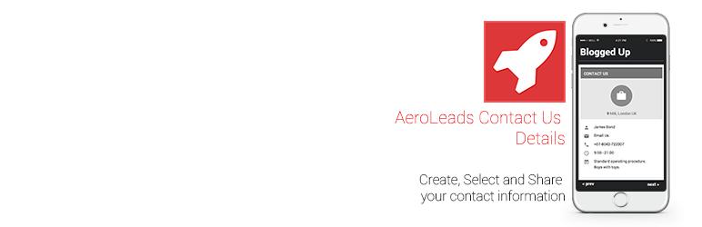 WordPress AeroLeads Contact Us Details Plugin Banner Image