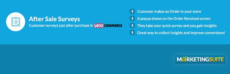 WordPress After Sale Surveys Plugin Banner Image