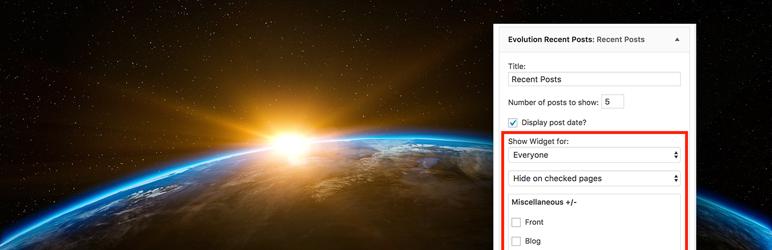 WordPress AH Display Widgets Plugin Banner Image