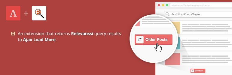 WordPress Ajax Load More for Relevanssi Plugin Banner Image