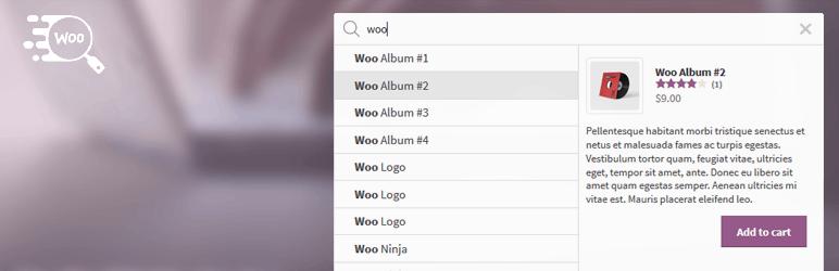 WordPress Ajax Search for WooCommerce Plugin Banner Image