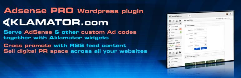 WordPress Aklamator Pro Adsense Plugin Banner Image