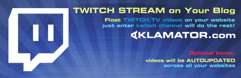 WordPress Aklamator – Twitch Videofloat Plugin Banner Image