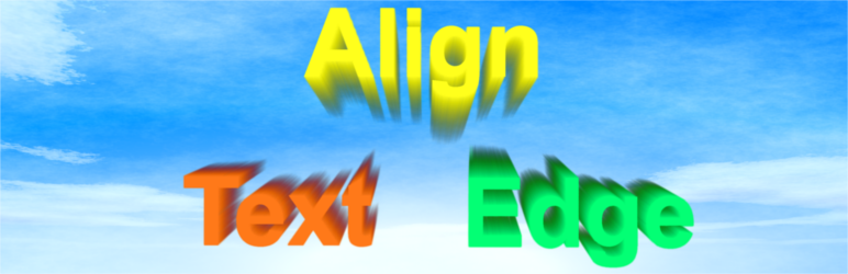 WordPress Align Text Edge Plugin Banner Image