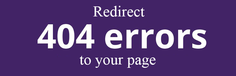 WordPress All 404 Pages Redirect to Homepage Plugin Banner Image