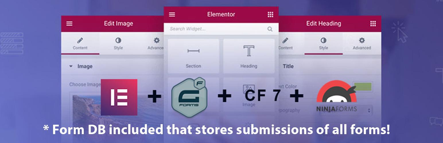 WordPress ElementoForms – All Forms Integration including DB For Elementor Plugin Banner Image