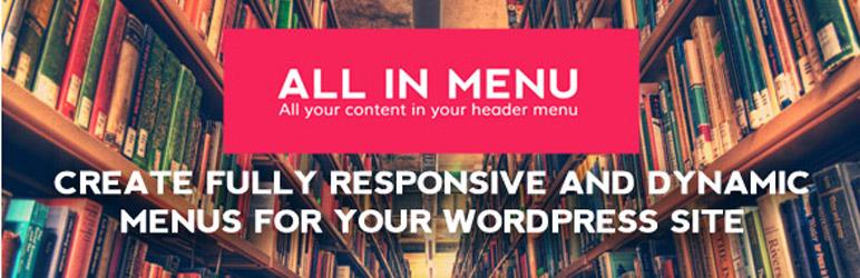 WordPress All In Menu – Header menu creator Plugin Banner Image