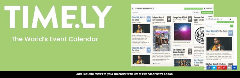 WordPress All-in-One Event Calendar Plugin Banner Image