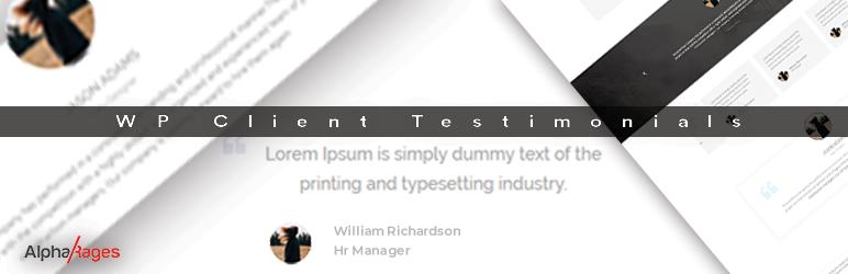 WordPress WP Client Testimonials Plugin Banner Image